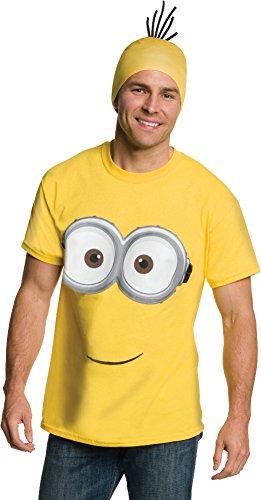 Rubie's Men's Minion Costume T-Shirt, Yellow, -