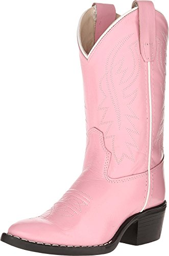 Old West Girls' Cowgirl Boot Pink 9.5 D(M)