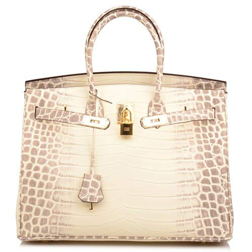 (Women's Padlock Handbags With Gold Hardware On Clearance (30cm, Snake Apricot))