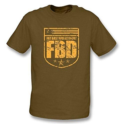 TshirtGrill Fettes Bastardt-shirt des zustelldienst-(Austin Powers), Farbe- Brown