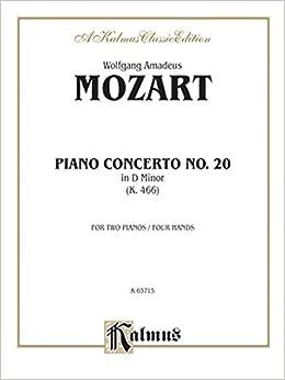 ??NEW?? Piano Concerto No. 20 In D Minor, K. 466 (Kalmus Edition). ofrece Stream floor espanol unique public fourth Gattis