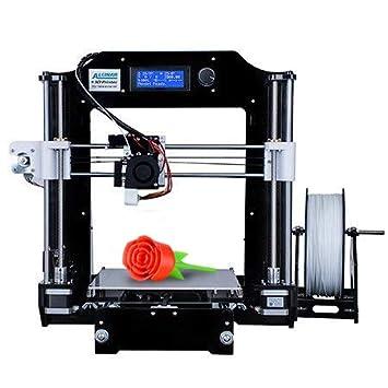 ALUNAR DIY 3D Haute Pré cision Imprimante Acrylique Reprap Prusa I3 avec 1,75 mm Impression 3D Filtre PLA, (M508) ALUNAR 3D EU HBI3B