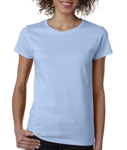 (Gildan womens Heavy Cotton 5.3 oz. Missy Fit T-Shirt(G500L)-LIGHT BLUE-S)
