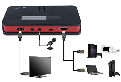 HD Game Video Capture Box Card HDMI 1080P Recorder Device w/IR for
