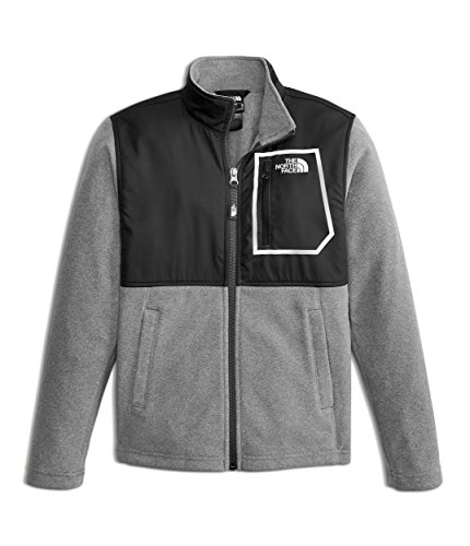 The North Face Boys Fleece - The North Face Kids Boy's Glacier Track Jacket (Little Kids/Big Kids) TNF Black/TNF Medium Grey Heather Medium
