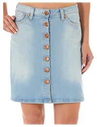 Wrangler Women's Button-Front Denim Skirt - 09Mwkhb