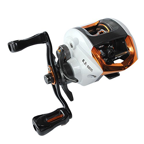 Lixada Baitcasting Fishing Reel 12+1 Ball Bearings 6.3:1 Gear Ratio High Speed Baitcast Baitcaster Reels with Magnetic Brake System (Left/Right ()