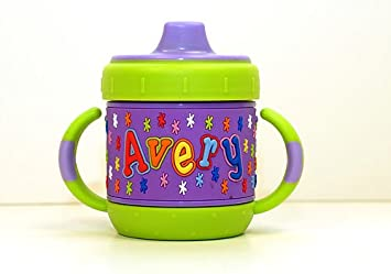 fc2daae067f Amazon.com : Personalized Sippy Cup: Avery : Baby Drinkware : Baby