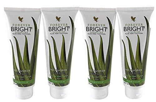 Forever Living Bright Toothgel, 4.6 oz each, Pack of 4, Natural Mint ()