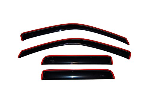 Auto Ventshade 194133 In-Channel Ventvisor Side Window Deflector, 4-Piece Set for 2004-2012 Chevrolet Colorado/GMC Canyon Crew Cab, 2004-2010 Isuzu D-Max Double Cab