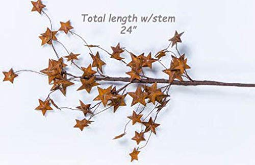 (Inspiration for A Project Ornament 24'' Dimensional Rusty Tin Star Pick/Stem - Remove Stars and use Individually DIY Rustic Primitive Decor Ideas)