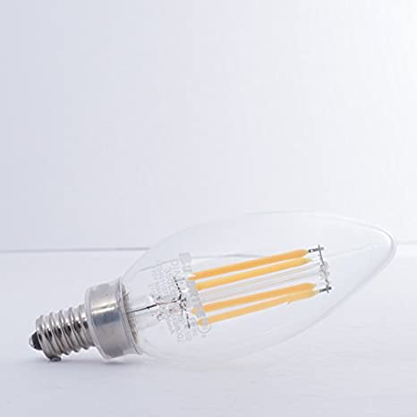 JA8 Certified Bulbrite 776677 LED4B11//27K//Fil//E12//2//JA8 LED 4W B11 Dimmable Light Bulb Warm White E12//Canelabra Base