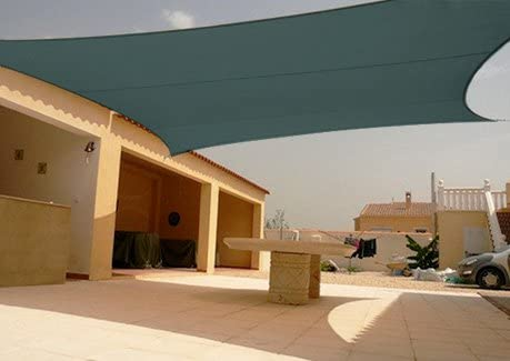 Geo Erosion Resources Square Sun Shade Sail Canopy Green 18'x18'