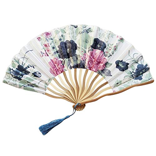 - Chinese Style Hand Held Fan Bamboo Paper Folding Party Wedding Decor Handheld Folded Circular Party,F,China,
