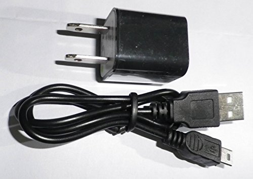 AC HOME 110V POWER ADAPTER CHARGER FOR THE UNIDEN BC75XLT, BC125AT, BCD325P2, BCD436HP, and HOME PATROL 2 RADIO SCANNERS - Includes charging cable