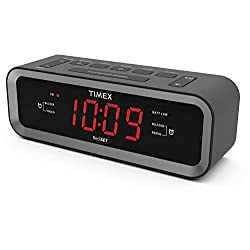 Timex T236B AM/ FM Dual Alarm Clock Radio with USB Charge Port