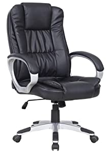 High Back Luxury Executive Computer Office Desk Chair Black