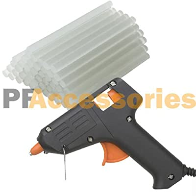 Hot Melt Glue Gun with 60 Mini Clear Glue Sticks for Arts Craft UL LISTED Black