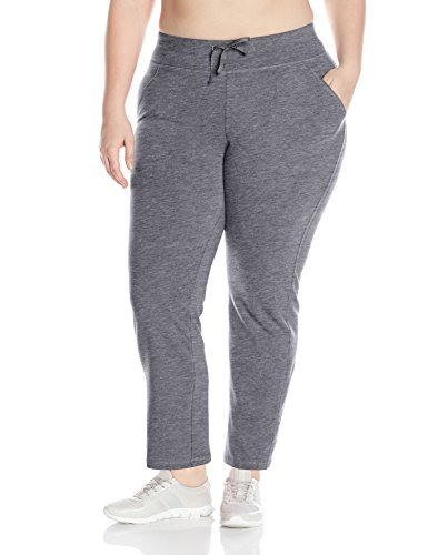 Fit for Me by Fruit of the Loom Women's Plus Size Dual Face Sweatpant, Medium Grey Heather, 2X