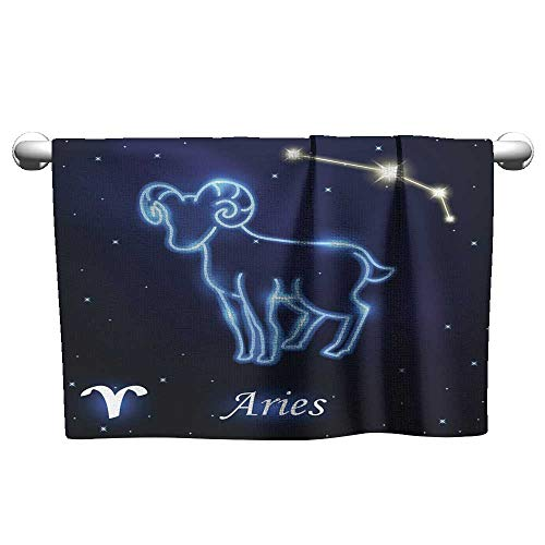 homecoco Beach Towel Clips Light Symbol of Sheep to Aries and Ram of zodiac1 Swim Towel 10 x 10 Inch