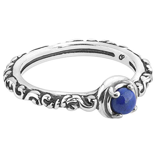 Carolyn Pollack Sterling Silver Blue Lapis Gemstone Single Round Stone Band Ring Size 8