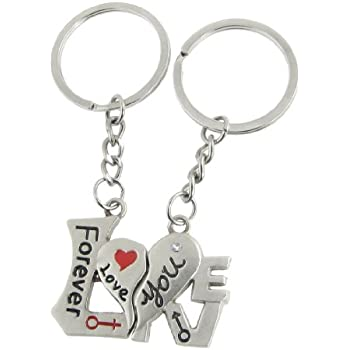 New Sweet Lover Pair Intimate Key Chain Key Ring for Couple 2 Pcs