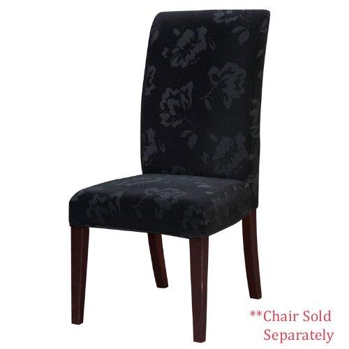 Powell Velvet Tone-on-Tone Floral Black Slip Over, Fits 741-440 Chair
