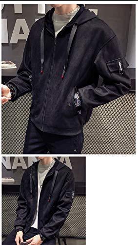 Felpa Felpa Felpa per Coat Cappuccio Nero Cappotto Felpa Teen Teen Teen Teen Fashion Cappuccio per Cappotto con Uomo con vxzzTnqHdw