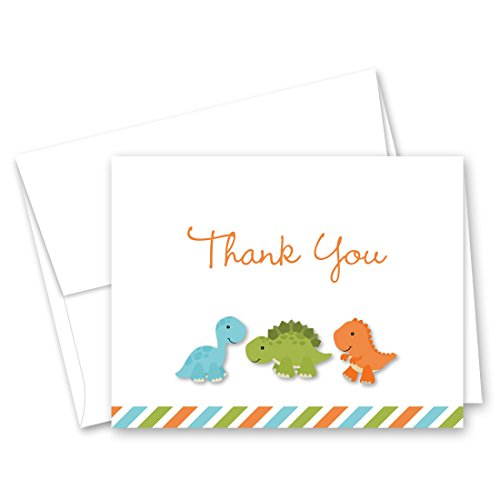 50 Cnt Dinosaur Baby Shower or Kids Birthday Thank You Cards