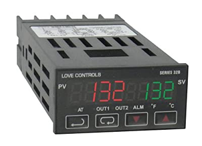 Dwyer 32B-53 1/32-DIN Universal Input Temp Controller; Current/Relay/Ramp/Soak
