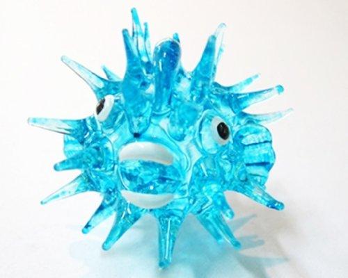 Coastal Style MINIATURE HAND BLOWN Art Glass Fish No. 36 Blue FIGURINE Collection
