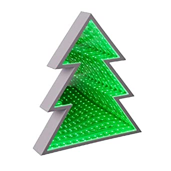 LED Christmas Tree Night Light Table Lamp Battery Operated Infinity Mirror  Led Lamp 3D Marquee White