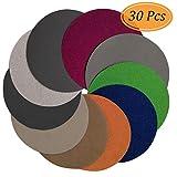 Aewio 30 Pcs 5 inch #800-#10000 Wet Dry Sandpaper Sanding Discs 800 1000 1200 1500 2000 2500 3000 5000 7000 10000 Each Grit 3 Pcs for Random Orbital Sanders (5 inch 8 Hole #800-#10000)