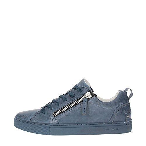 Crime 11300S17B Sneakers Herren Leder Blau 43
