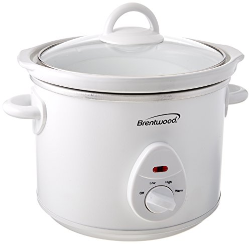 Brentwood Sc-135W 3 quart 200W Slow Cooker White Body Home & Garden