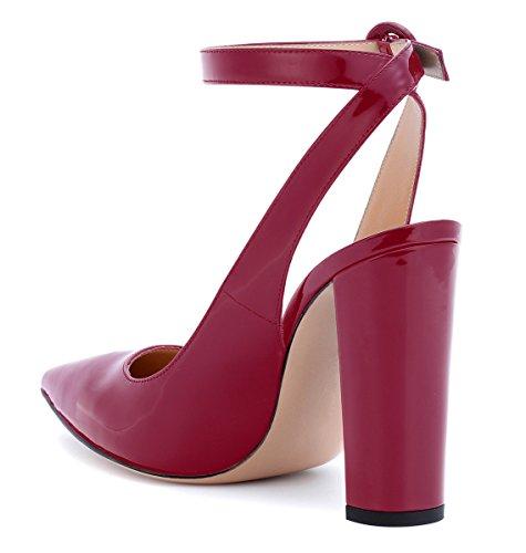 Aiguilles Femmes Heels Sandales Escarpins Rouge Talons Hauts 10 uBeauty High Femmes CM Talons Slingback Talons Élégant ExpwnY7Aq