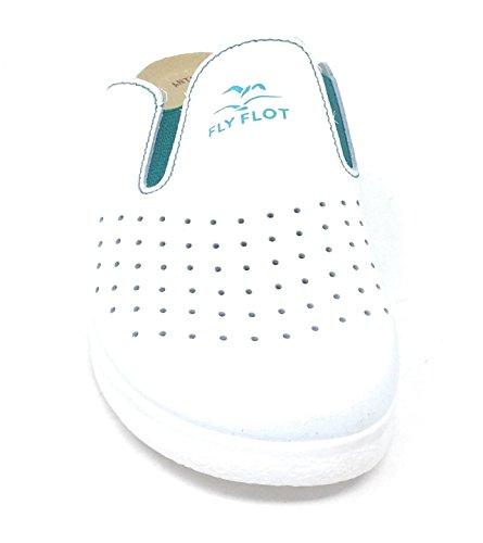 Vera Flot Pelle Unisex Ciabatta 81474 Fly Bianco Sanitaria U6vwIFxx