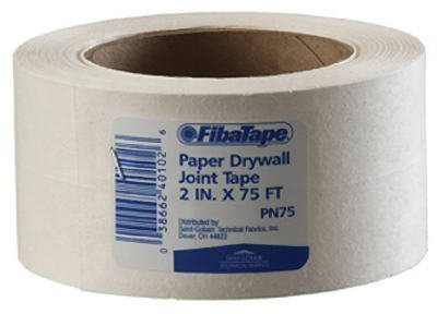 Saint Gobain FDW6620-U Professional Paper Joint Drywall Tape, 75' Length x 2'' Width, White by Saint Gobain