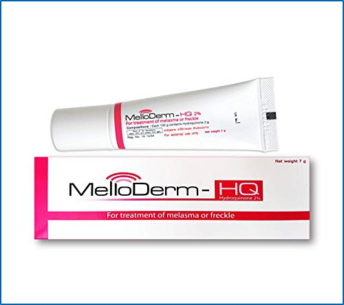 Melloderm-Hq 2% Once Daily at Night (Pack Size 0.25 Ounces) Active Ingredient Hydroquinone 2 Percent Cream FDA Approved for Treatment of ()