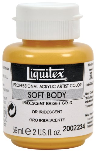 Liquitex Professional Soft Body Acrylic Paint 2-oz jar, Iridescent Bright Gold