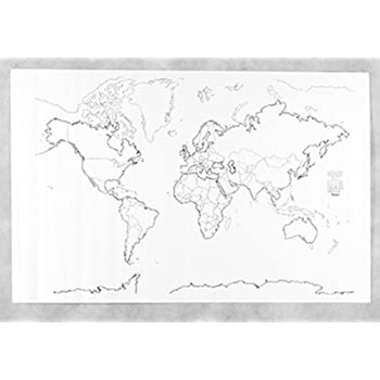 Amazon.com : Blank World Map Pad : Wall Maps : Office Products