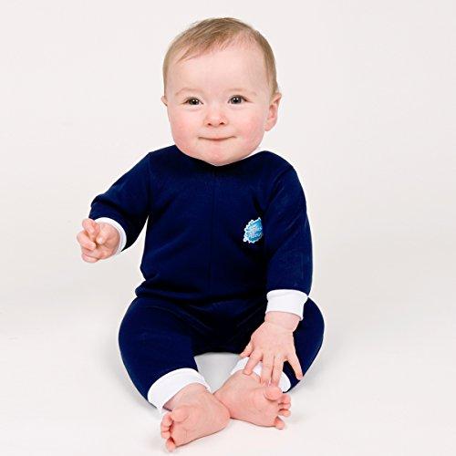 Splash About Warm in One Baby Wetsuit (Medium (3-6 Months), New Navy)