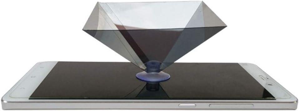 Dengofng Proyector Pirámide Pantalla Holograma Miniatura Plano ...