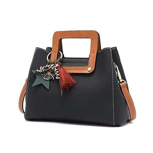 A Per Borsa Ploekgda Donna Black Tracolla Grey color Blue 57q7UgnxB