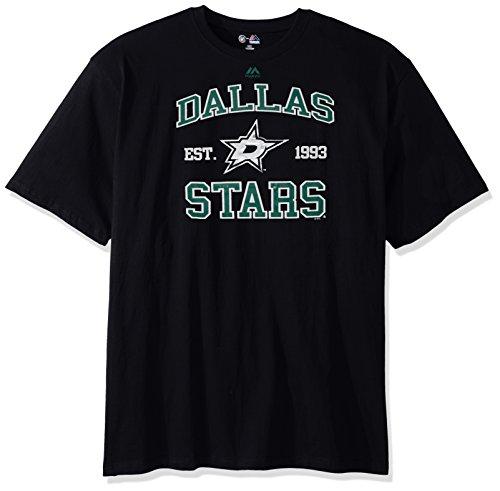 - NHL Dallas Stars Short Sleeve High Density Tee, 3X, Black