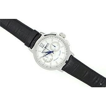 Uhr Haurex Maestro ca330uss mechanisch Stahl Quandrante weiß Armband Leder