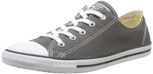 Converse Women's Dainty Canvas Low Top Sneaker, Charcoal, 7 M Us