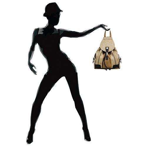 CASPAR Fashion - Bolso cruzados para mujer #15117 braun beige schwarz Rucksack