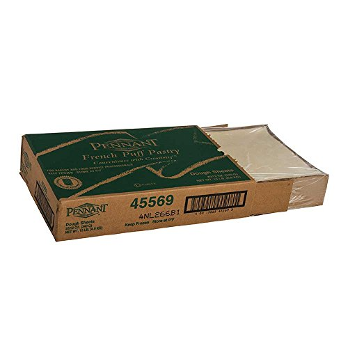 - Pennant Foods Puff Pastry Dough Sheets, 12 Ounce -- 20 per case.