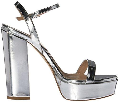 Charles David Womens Retro Platform Dress Sandal Silver UaevpFKrIT